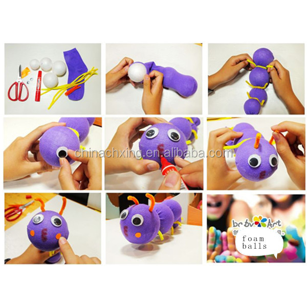 Diy arts and crafts styrofoam balls education toys for for Crafts with styrofoam balls for kids