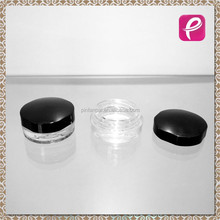 Black empty blush eyeshadow container packaging