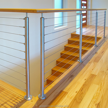 Simple Design Sus316 Deck Railing Wire Rope Railing On Customized