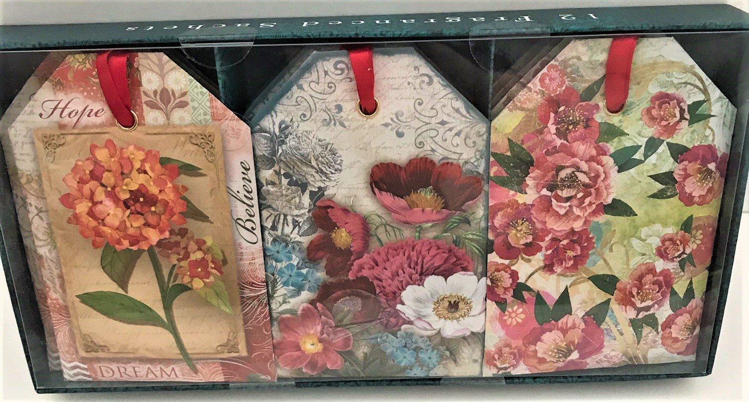 Inspirational Hope, Believe, Dream, Rose Scented Sachet Gift Set