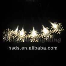 Battery operated 20 LED Lights Arcylic Snowflakes 7'4''