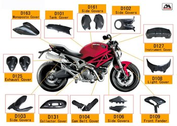 Carbon Fiber Motorbike Parts For Ducati Monster 696 View Carbon