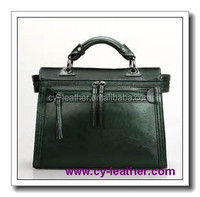 Cheap wholesale custom high-end fashion men leather handbags