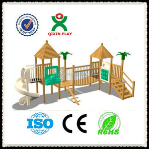 Play Park wood outdoor playsets/best outdoor play equipment/play ground equipment QX-11058C