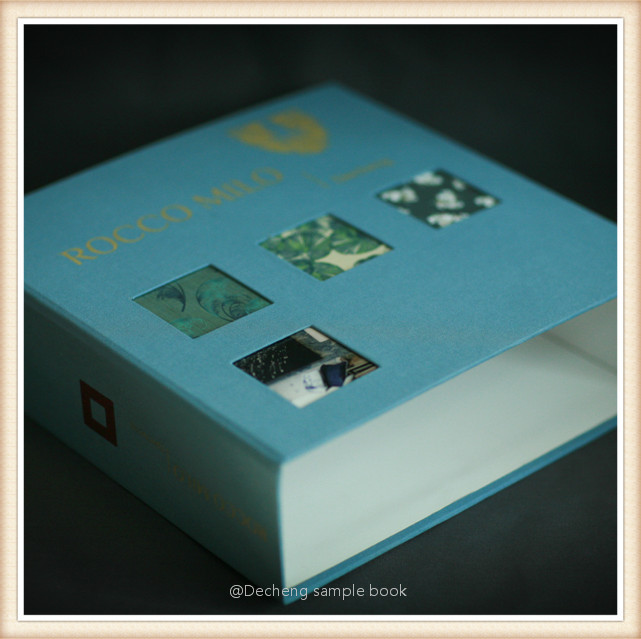 How To Make Covered Files: Fabric Sample Book Cover / Binder Folder