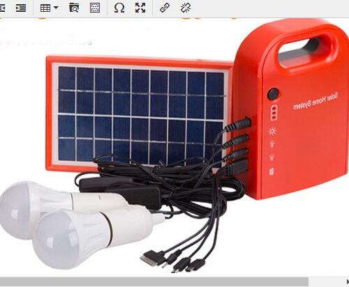 Home Mobile 8W 11V Solar Panel Cell Cleaning Power Lighting Solar Energy Systems With Lithium Batteries For Africa