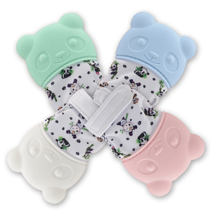 Sensory Toys BPA Free Soft Teething Mitten Baby Teether Gloves Silicone Baby Mitten