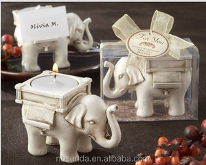 Tag Tea Light Holder / Wedding Favors Elephant Candle Holder