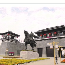 China general latón estatuas griego antiguo carácter estatua escultura