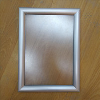 Clear snap frame transparent back board window display self-adhesive frame