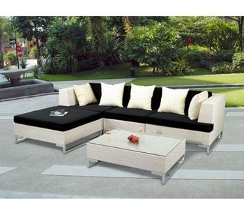 Garden Furniture Corner Sofa Set Rattan Outdoor L Shape Sofa