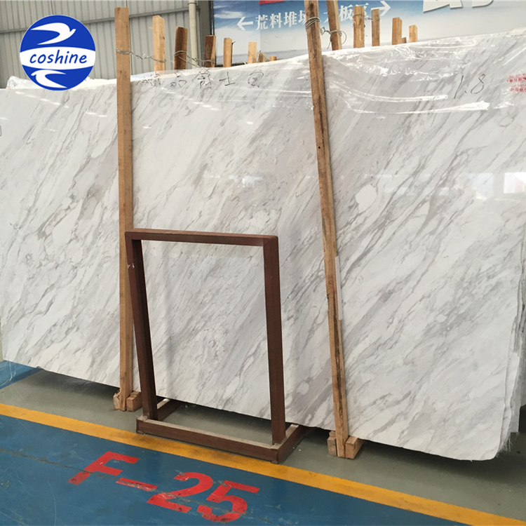 Polished white grey greece volakas white marble for home decoration