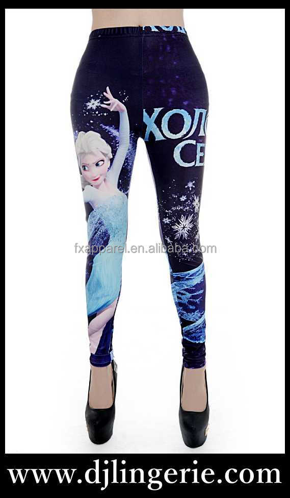 Hotsale frozen princess legging pants S M L XL 2XL 3XL 4XL plus size legging