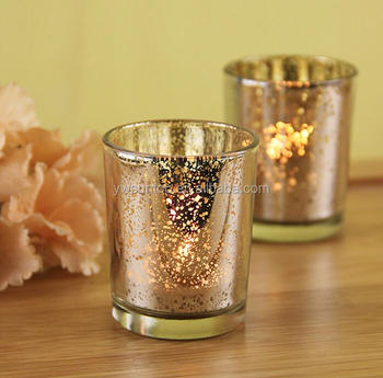Attractive Romantic Love Mercury Glass Votive Candle Holder For
