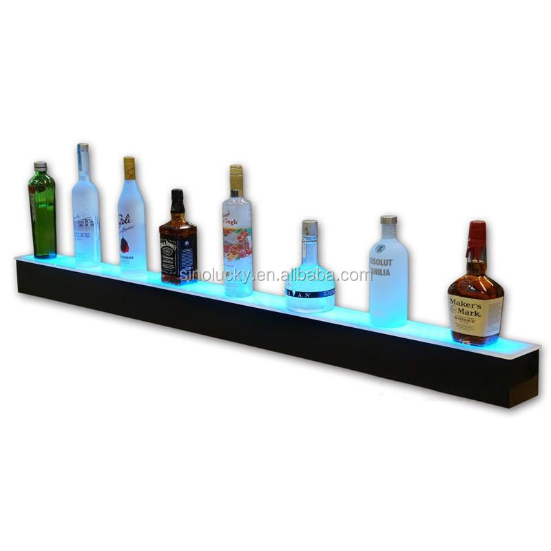 1 Tier Led Lighted Bar Shelves / Led Illuminated Bottle Displays ...