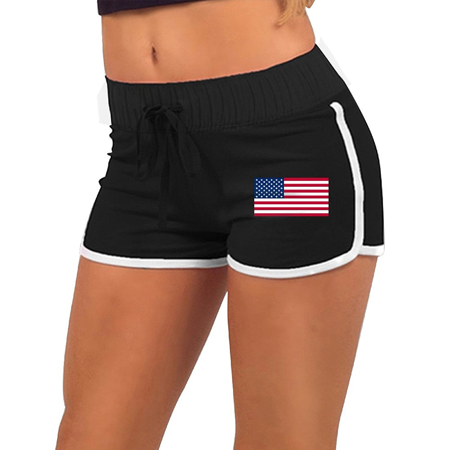 6f71d1566e Get Quotations · PROGIFTTO KLOP Running Shorts American Flag Patriotic USA  Stars and Stripes Red White and BlueSummer Pants