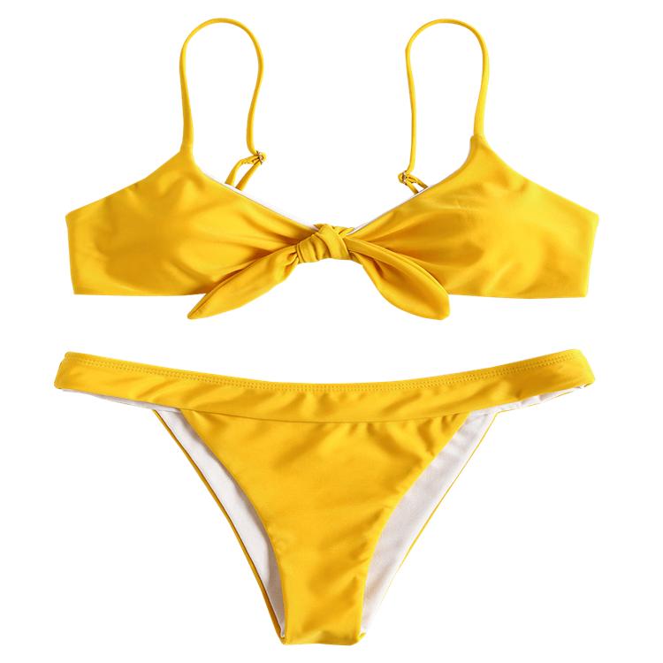 Wholesale Stock Two Colors Swimwear Underwire Bikini Cut Swimsuit