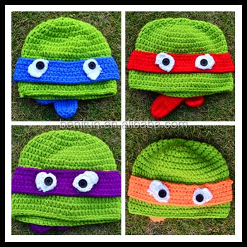 Children Winter Knitting Ninja Turtle Hats Cute Animal Baby Crochet