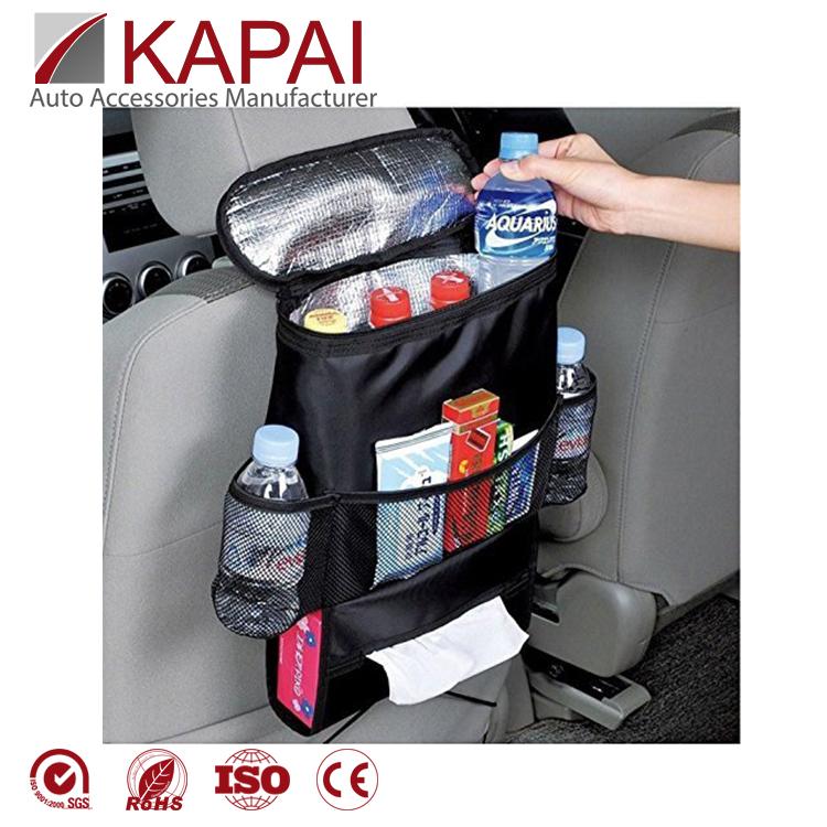 1pcs 210D Oxford Black Car Trash Bags Garbage Bag Seat Organizer Waterproof Bags