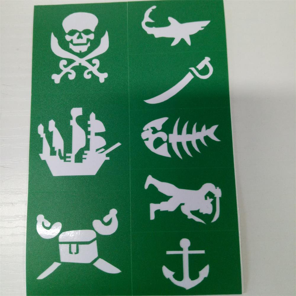 Color Stickers Stencils For Painting Body Art Temporary reusable stencils for painting