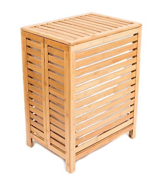 Unique laundry organizer bamboo basket