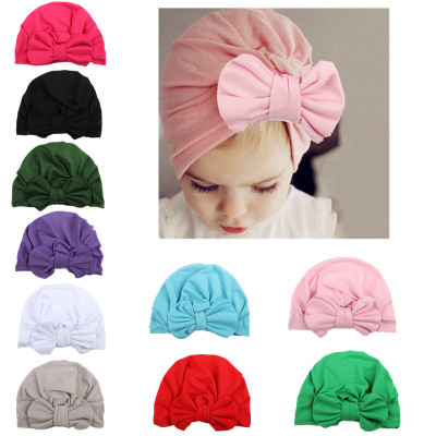 Wholesale Hot Sale Cheap Lovely Cotton Baby Hair Accessories Big Bow Headband