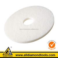 White Color Fiber Concrete Floor Stripping Scrub Pad for High Gloss Polishing