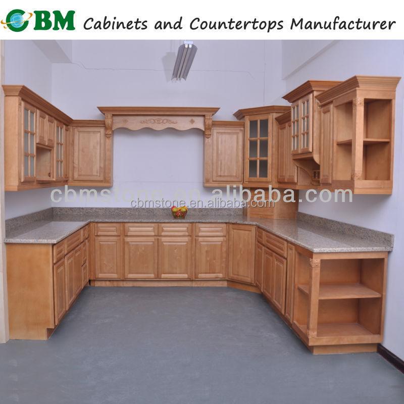 Muebles de cocina con vidrio 20170805175308 - Muebles de cocina madera maciza ...