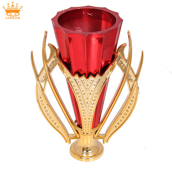 High quality golden embossed plastic trophy parts mini plastic trophy