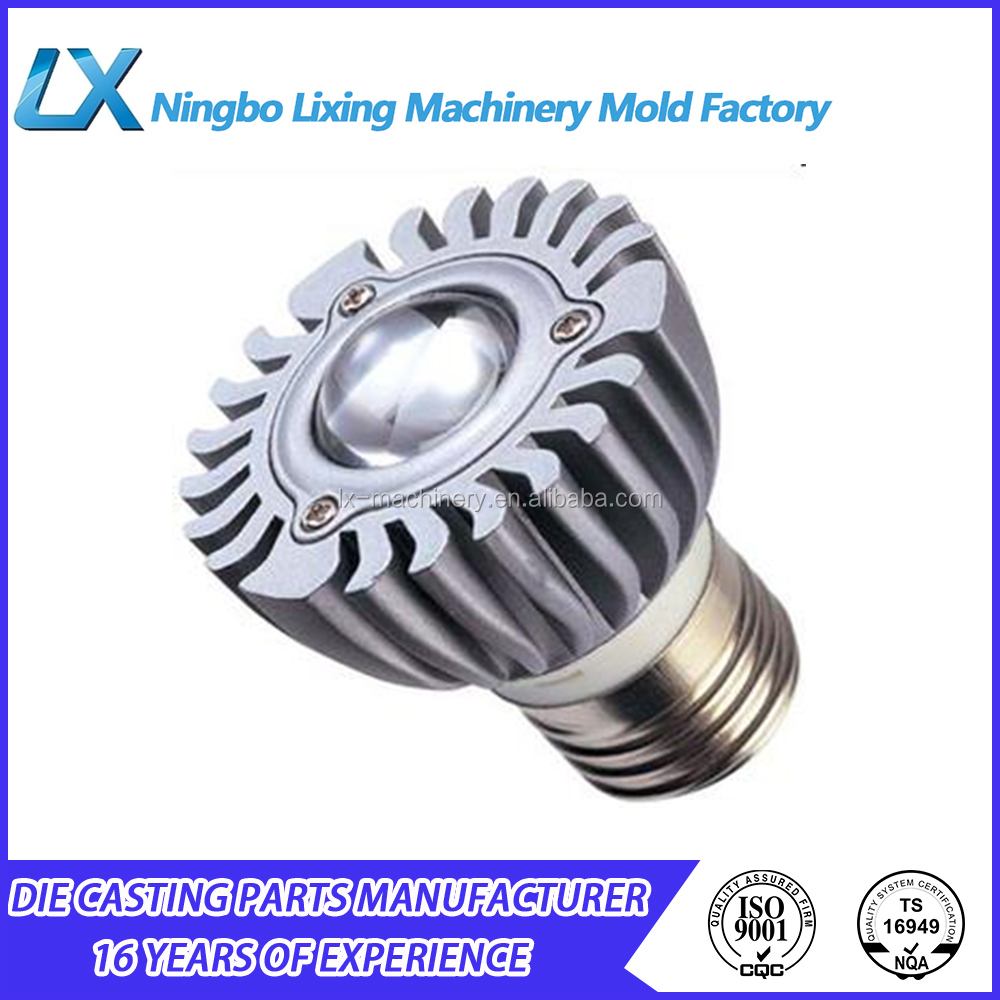 Shenzhen LED lighting oem die cast aluminum heat sink enclosure lamp covers