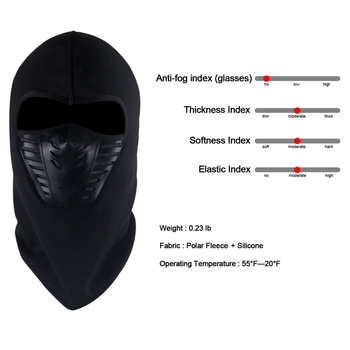 487adcd95dcce Balaclava Fleece Hood Windproof Ski Mask