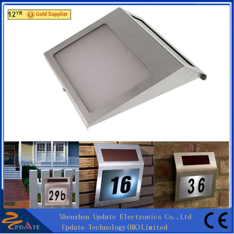 Waterproof hotel door number lights solar powered address light
