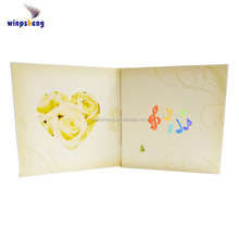 Factory sell wedding invitation musical greeting cards for party