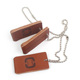 Clothing Genuine Leather Labels Maker Design Custom Embossed Logo Real Leather Hang Tags for Handbag