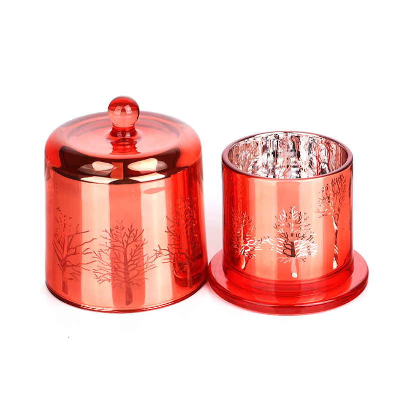 New Hot High Quality Candle Holder Colored Glass Jars With Lids