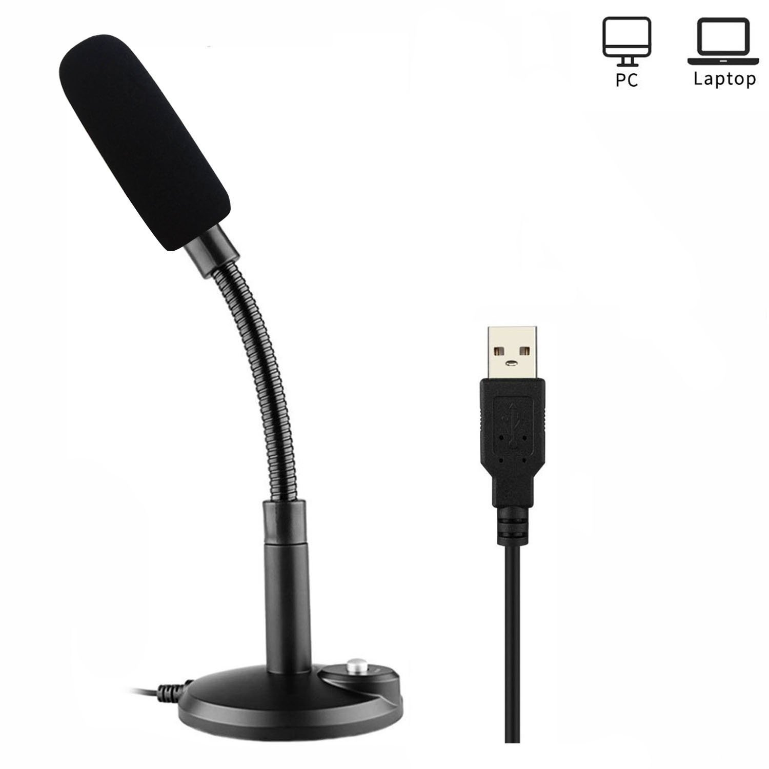 Professional USB Microphone,ZAFFIRO Computer Microphone Plug & Play Home Studio USB Condenser Microphone for PC/Desktop/Laptop/ Notebook,Recording for YouTube,Podcasting,Gaming(Windows/Mac) (black 09)