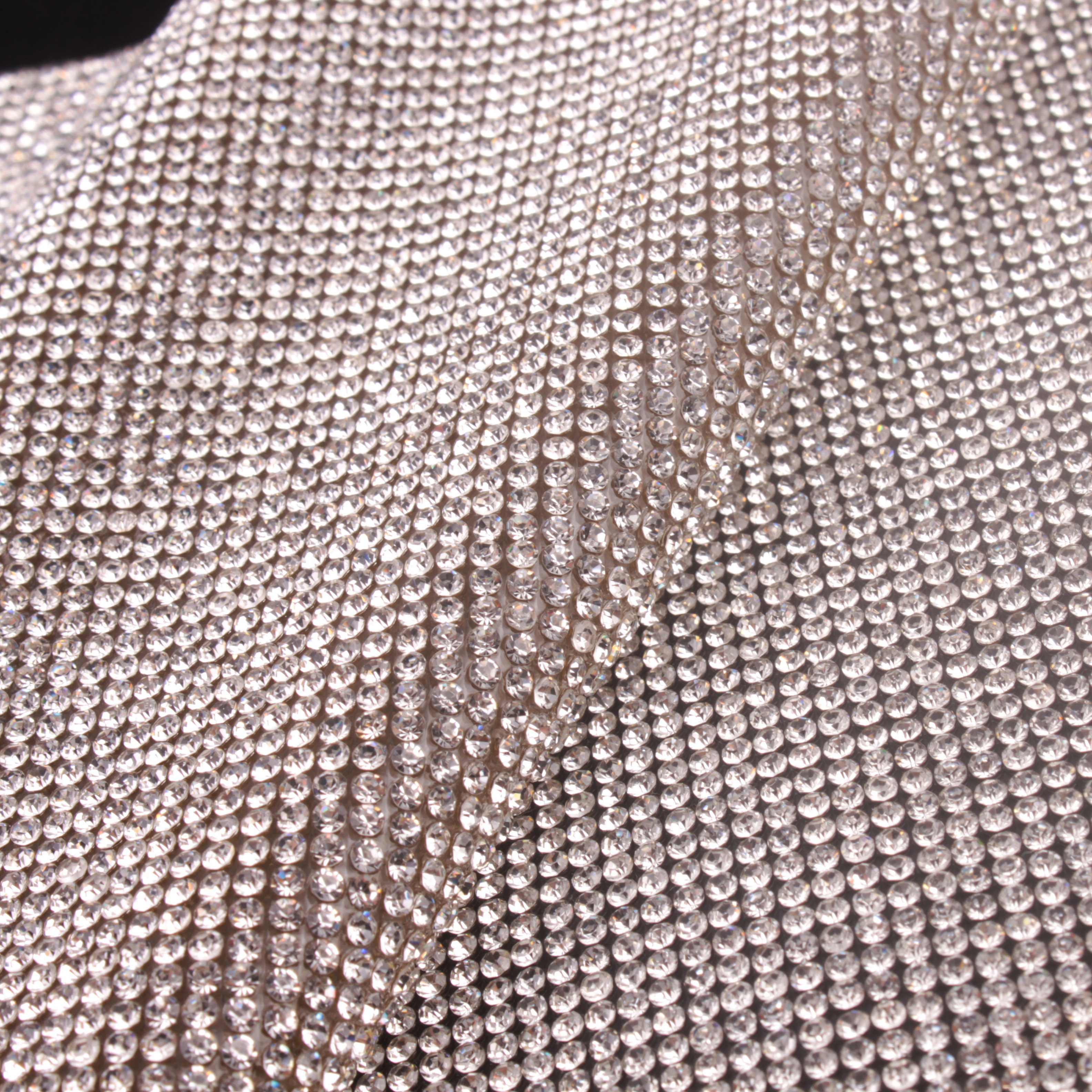 58f5ee8fca 2mm Clear Crystal Adhesive Rhinestone Sheets For Fabric
