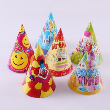 Custom Design Party Paper Hat Happy Birthday
