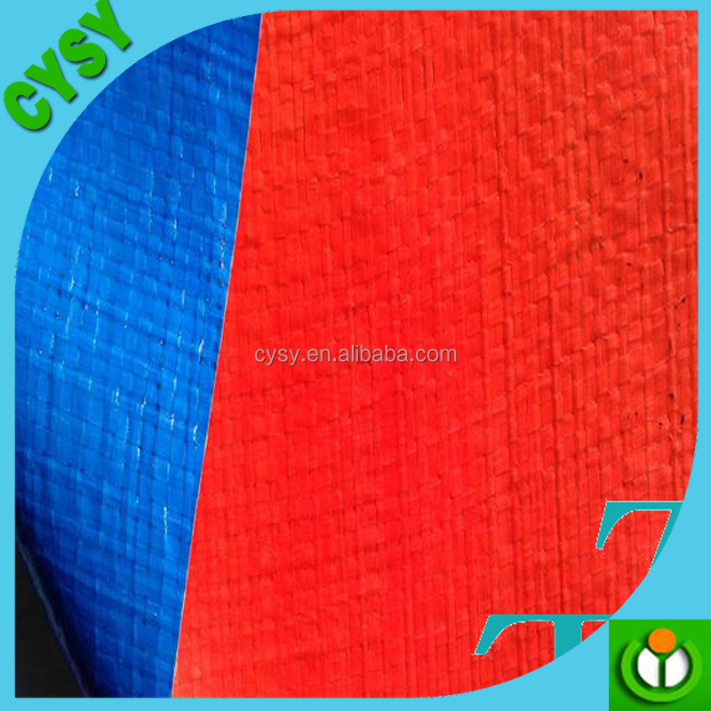 China factory supply PE tarpaulin/canvas tarpaulin blue-orange/good quality plastic tarpaulin cover