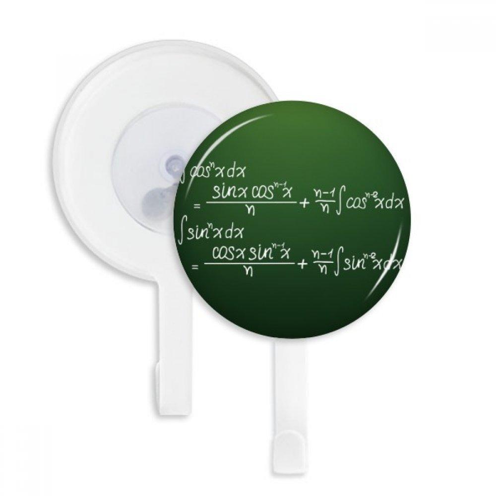 Math Kowledge Cosine Integral Formula Sucker Suction Cup Hooks Plastic Bathroom Kitchen 5pcs Gift