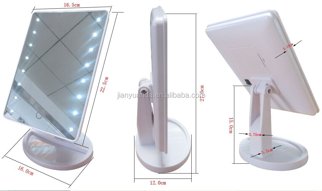Table Mirror With Lights