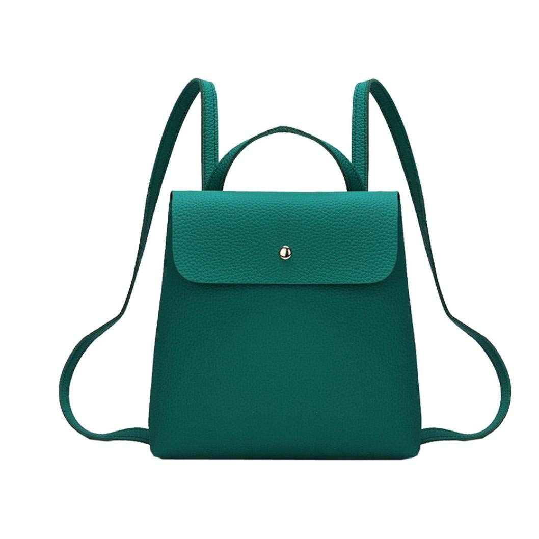 BCDshop Fashion Daypack Faux Leather Small Backpack School Shoulder Bag Women Girl Gift