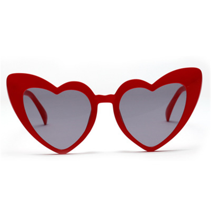 Trendy Heat Shape Glasses Fashionable Mirror Women Sunglasses