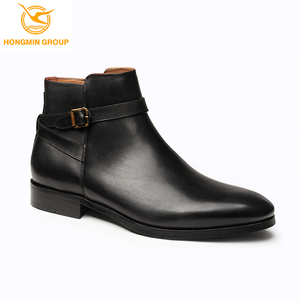 2019 Most Popular Comfortable Black Height Increasing Men Ankle mens ladies leather boots