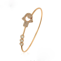 50714 xuping multi stone bangle design for baby with a hand