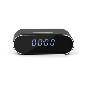 feikasi HD 1080P Wifi Hidden Camera Alarm Clock Night Vision/Motion Detection/Display Temperature Home Surveillance Spy Cameras