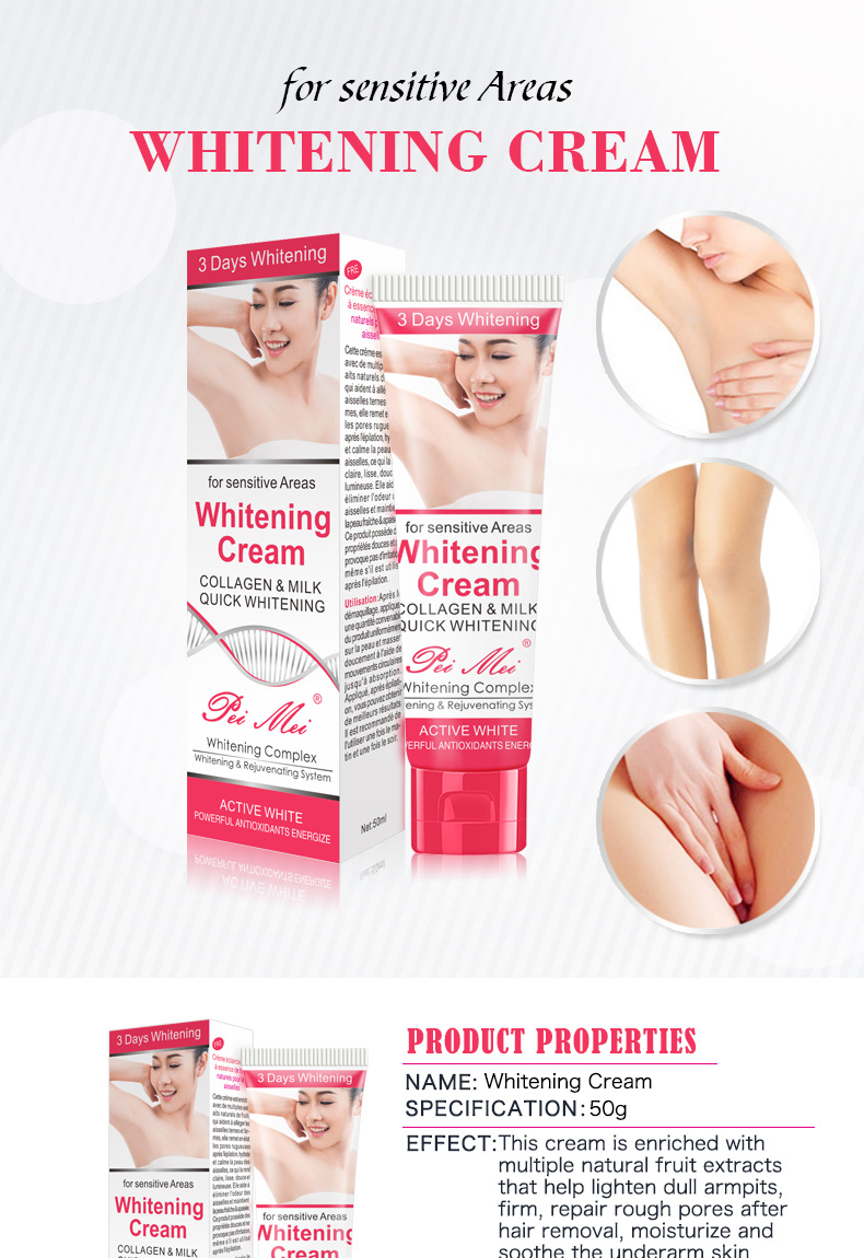 Pei Mei Women Body Underarm Care Best Skin Whitening Cream For Armpit Between Legs