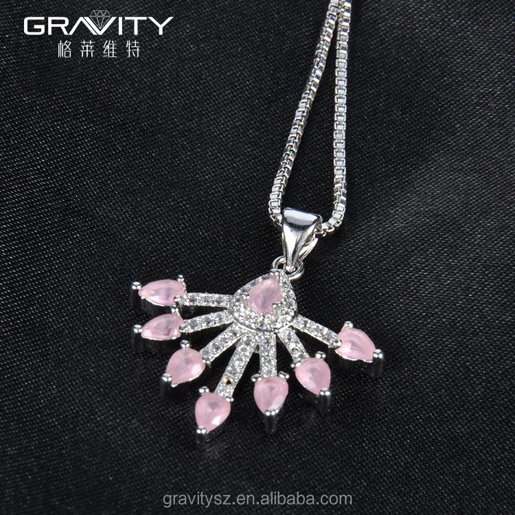 Most Popular fashion jewelry silver necklace, China made pendant neclace necklaces