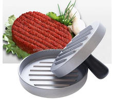 Non-Stick Aluminium Alloy Bulat Hamburger <span class=keywords><strong>Tekan</strong></span> 12 Cm DIY <span class=keywords><strong>Daging</strong></span> Sapi BBQ Grill Burger Press Patty Cetakan Burger pembuat