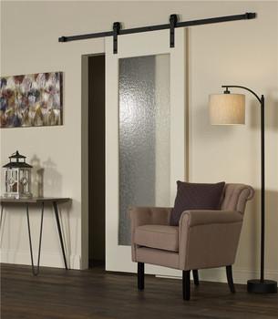 Sliding Mirrored Barn Door For Living Room And Bathroom